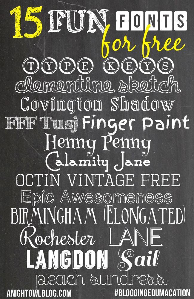 15 Fun FREE Fonts!
