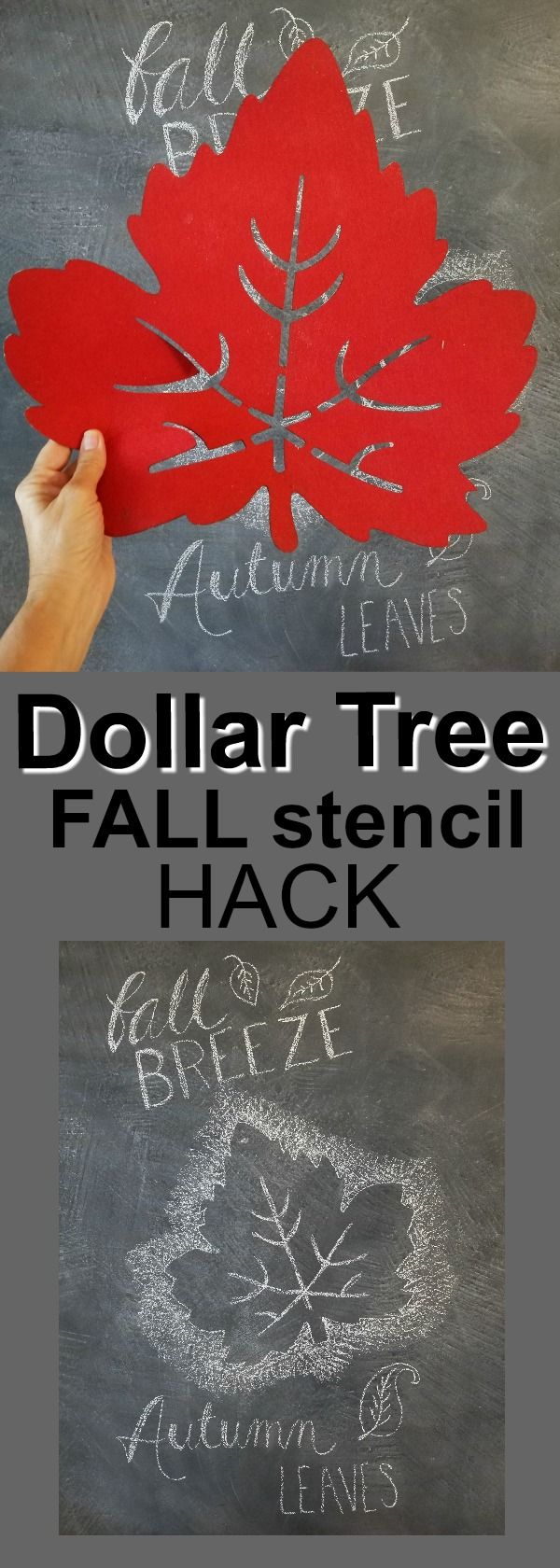I can't believe I never thought of this! The Dollar Tree has these felt thingies that are perfect for stencils. $1!!!