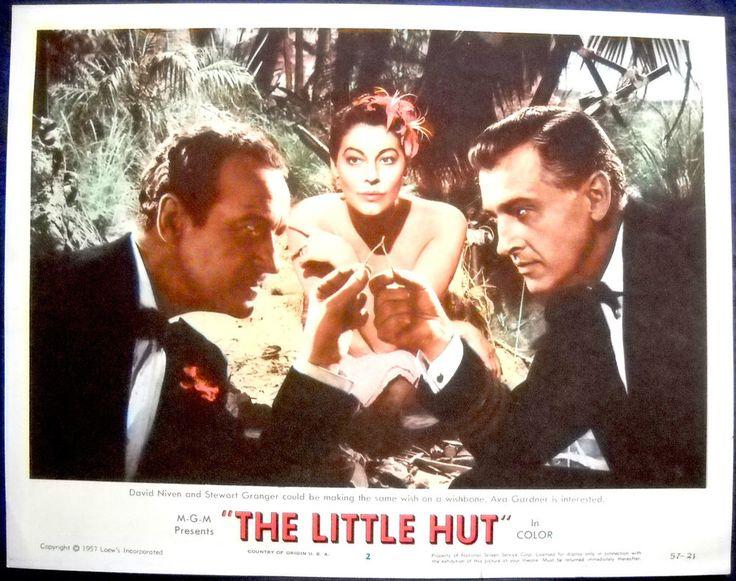 THE LITTLE HUT MOVIE POSTER-Ava Gardner Stewart Granger David Niven lc #2