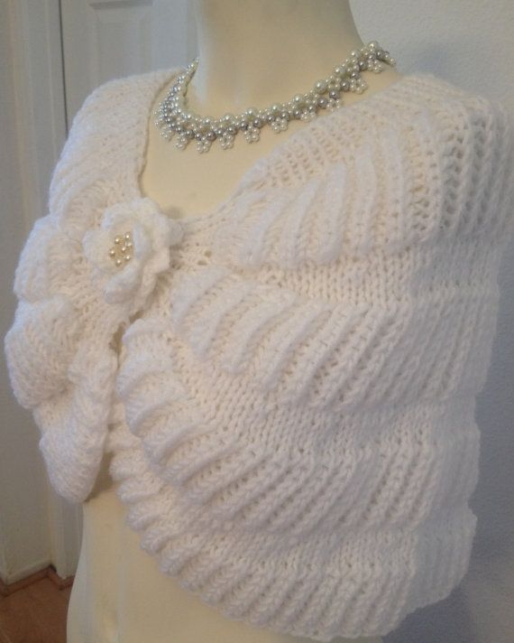 A mano a maglia Wedding scialle / Bolero sposa