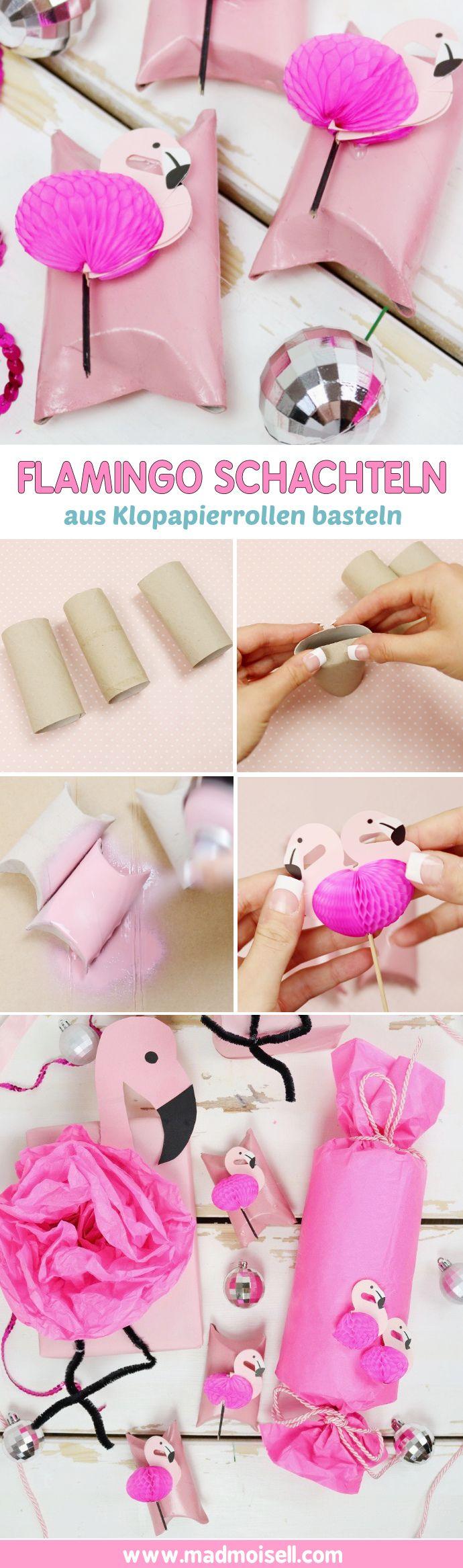 Flamingos sind momentan total angesagt und machen sich super als DIY Deko für Geschenke. Klicke hier für die schönsten Flamingo Geschenkverpackungen!