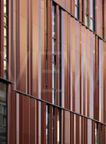 28 South Molton Street London United Kingdom Architect DSDHA 2012 Closeup of folded terracotta panel