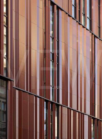 28 South Molton Street London United Kingdom Architect DSDHA 2012 Closeup of folded terracotta panel