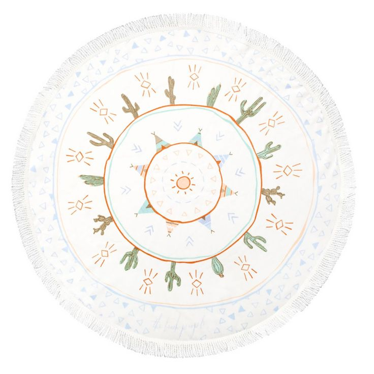 top3 by design - The Beach People - round towel native petite