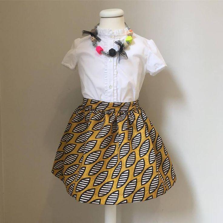 Charlotte Wix #fashiongirl #skirt #africanskirt #modabambini #fashiondesign