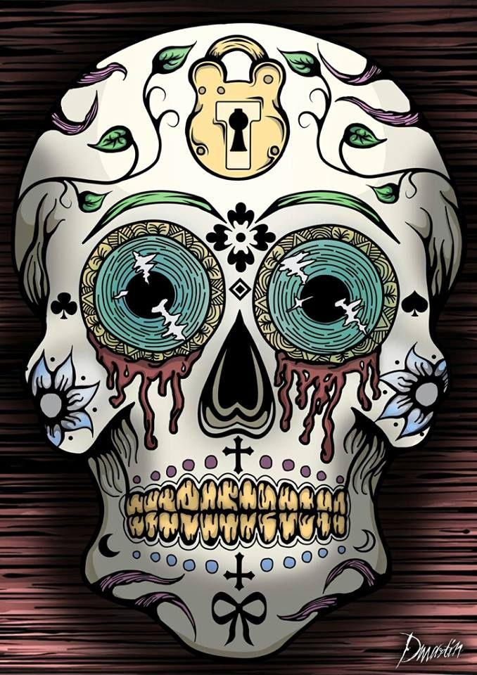 открытка в виде черепа холодной ковки