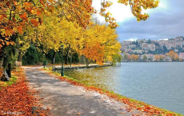 Kastoria lake in autumn