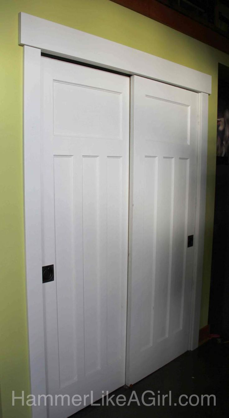 Salvaged Doors As Bypass Sliding Doors