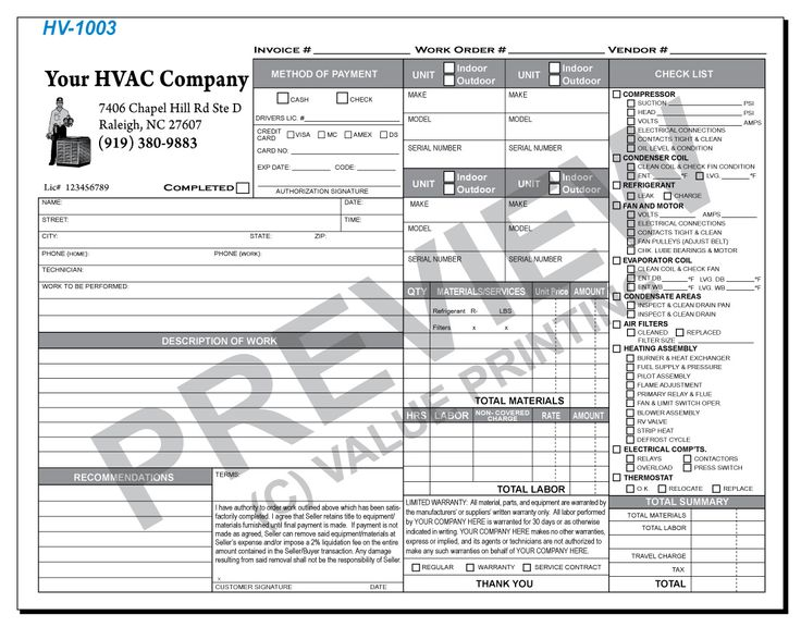 51 Best Hvac Forms Images On Pinterest Flat Rate Free Design And