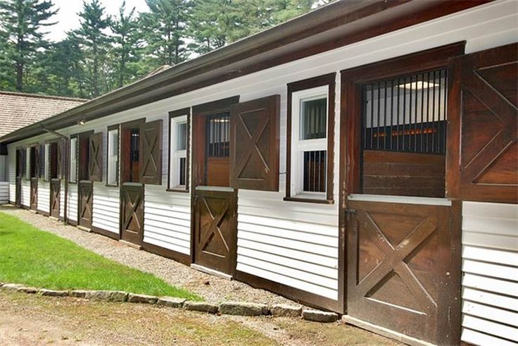 Stable with stall windows and doors