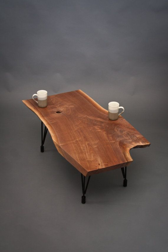 Unique Live Edge Black Walnut COFFEE TABLE by ElpisWorks on Etsy, $575.00