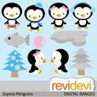 This clipart set features cute penguins. Great for winter themed projects.  These cliparts are great for teachers and educators for creating their ...