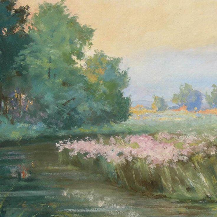 Walery Brochocki  Pejzaż z rzeką