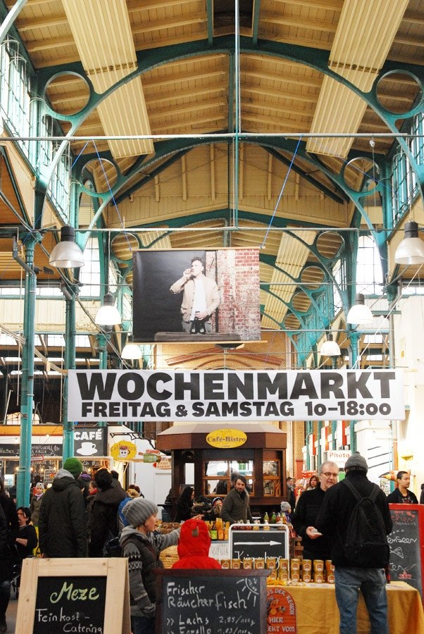 """Markthalle Neun (Berlin) - Kathrin: """"The market hall here at the Kiez reminds me of one of my favorite places in Cape Town: The Old Biscuit Mill. This is where I get started on my weekends, buy groceries for the week, and flowers for my apartment."""" #travel #Esprit"""