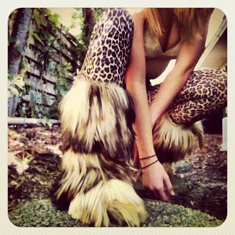I want these!!!   Bombshell Yeti boots/Mongolian lamb/1970s fur by INTUITIONVINTAGE, $355.00