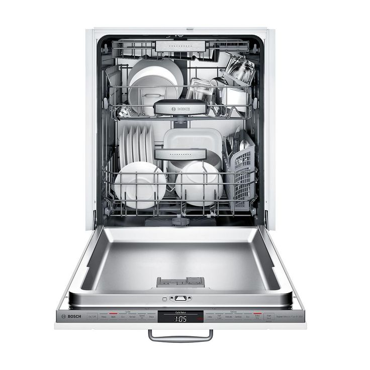 Bosch 800 Series Top Control Tall Tub Dishwasher In Custom Panel Ready With Stainless Steel Tub And 3rd Rack 42dba Shvm78w53n The Home Depot Built In Dishwasher Steel Tub Stainless Steel Dishwasher