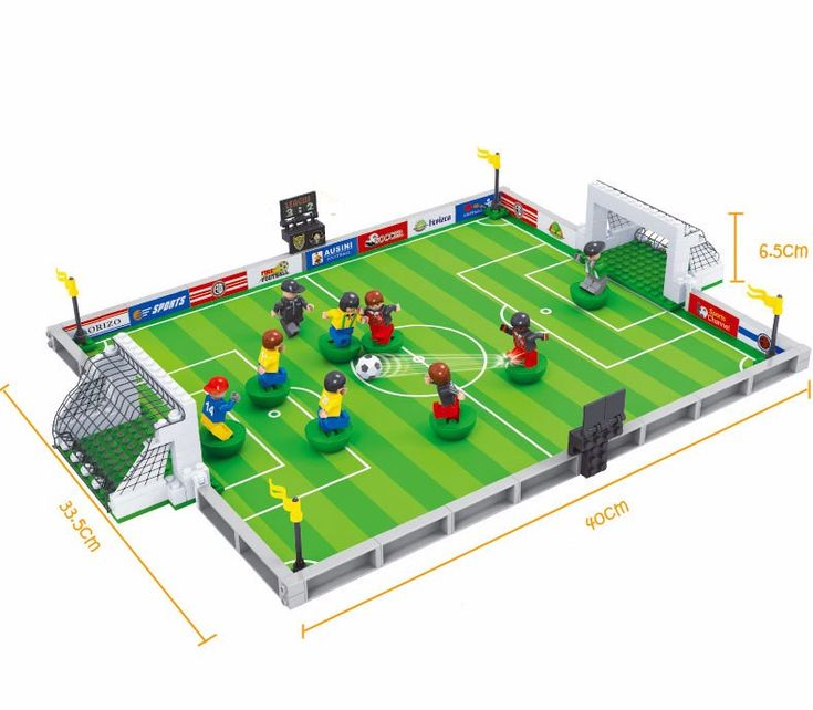 Model building kits compatible with lego city football series 3D blocks Educational model building toys hobbies for children