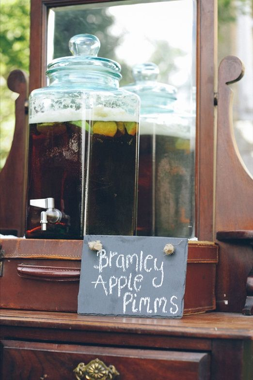Bramley Apple Pimms drinks station
