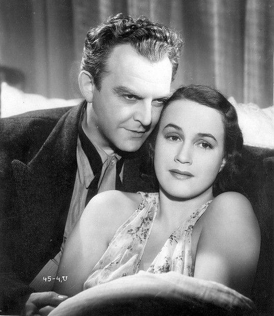 Adina Mandlová a Otomar Korbelář ve filmu Nevinná (1939)