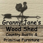 Granny Jane's Wood Shed American Made Decor is a collection of Country Rustic Primitive & Colonial Early American handmade wood furniture, home decor accessories and furnishings all handmade in the USA.: Wood Shed Primitive, Granny Jane S, Furniture Contest, Shed Primitive Directory, Rustic Primitive, Sheds, Handmade Wood Furniture, Gallery Furniture, Jane S Wood