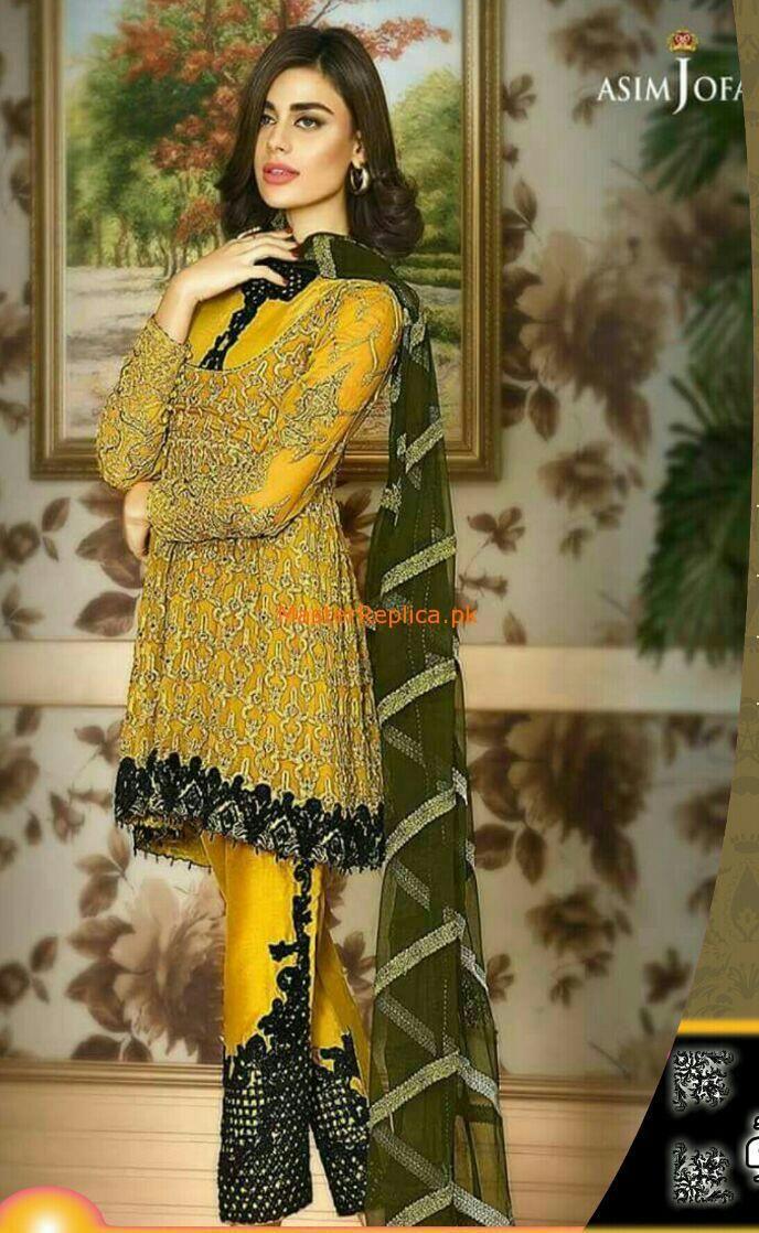 d5e1c2e3ad Asim Jofa AJC-1B Latest Replica of Asim Jofa Latest Chiffon Collection on  Pakistan Buggest Replica Online Store Wholesale & Retail A+ Quality Replica