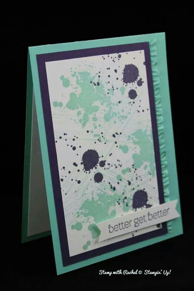 Stampin up gorgeous grunge card cased from Racheal Lewsley.