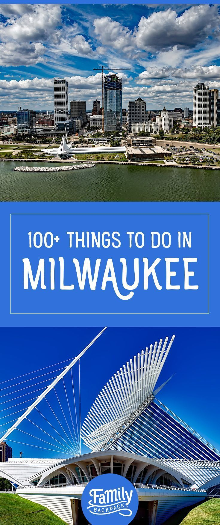 100+ Things to do when travelling to Milwaukee- If you find yourself traveling to #Wisconsin soon, you'll definitely want to take time to visit #Milwaukee! The Family Backpack has gathered tons of tips and suggestions to provide you with 100+ #fun #thingstodoin Milwaukee. It's like your own, free travel guide! Explore the city #downtown or go on a hiking #adventure in Havenwoods State Forest! Milwaukee is sure to not disappoint!