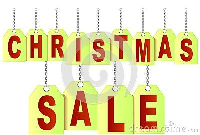 Vector price tags symbolising Christmas SALE with Chain.