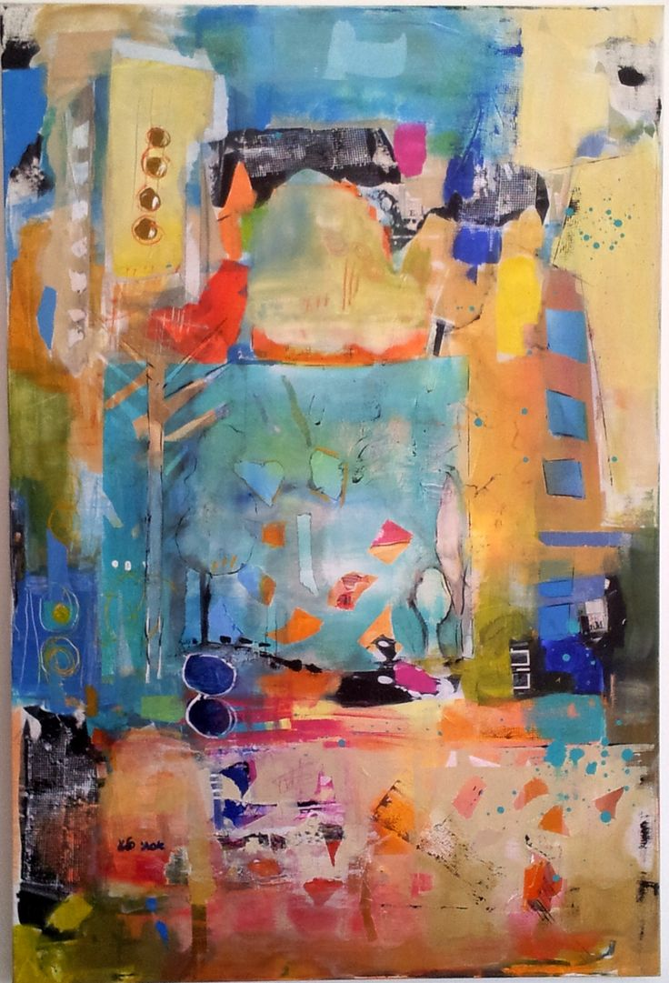 Abstract art collage ideas images for Modern painting ideas