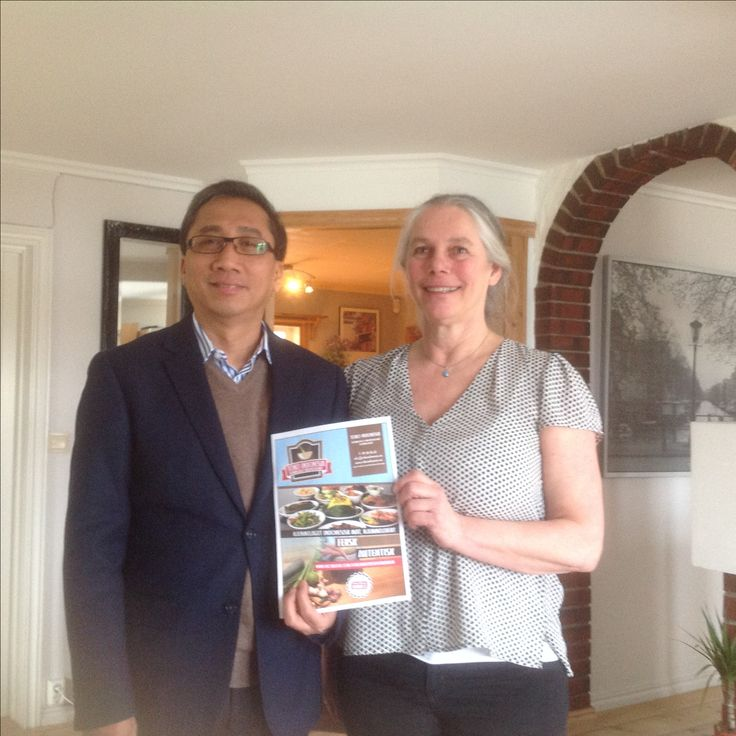 Indonesian ambassador in Norway visiting our catering, very honoured.
