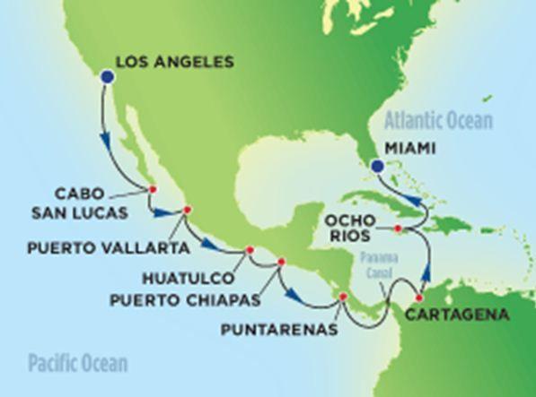 Pacifique / Atlantique - Croisière incluant le passage du Canal de Panama - Croisières, Circuits et Groupes accompagnés - Le Voyagiste de Quebec
