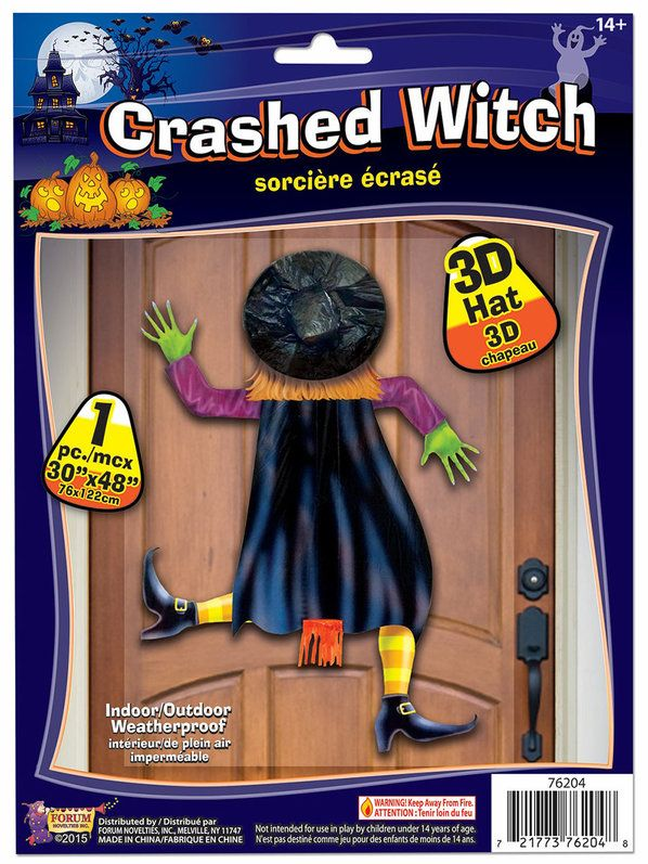 check out crashed witch decoration with 3d hat wholesale witch props from wholesale halloween costumes