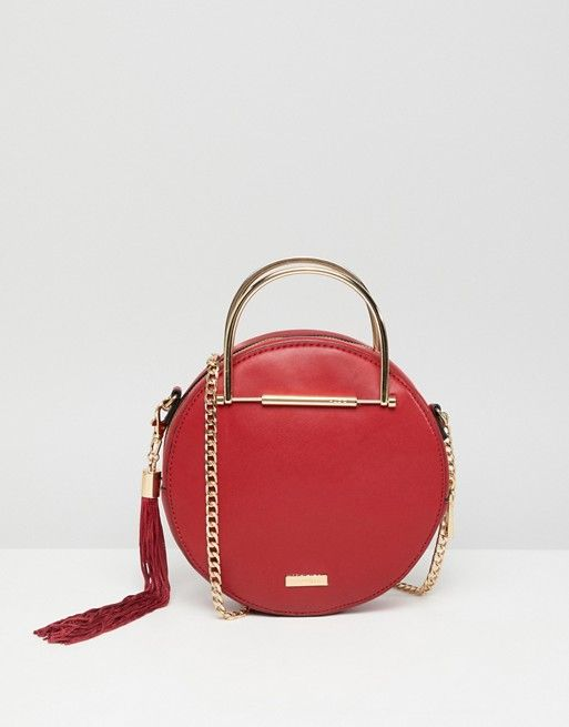 fbf4c1f461e ALDO circle crossbody bag with gold top handle in red | ASOS in 2019 ...