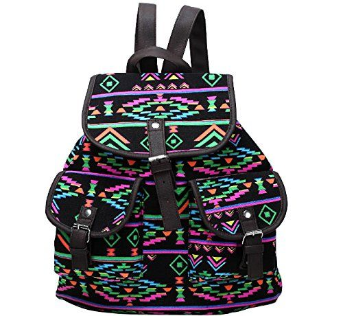 Unisex Canvas Diamond Ripple Stripe Pattern Backpack School College Laptop Bag for Teens Girls Boys Students, Style 4 - Click image twice for more info - See a larger selection of boys teens backpacks - kids, boys, little boys, school supplies, kids fashion , teenager, bags.