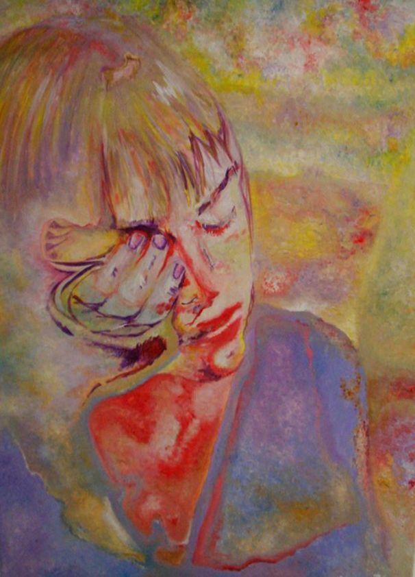 Anastasia 70x60cm acrylic on canvas