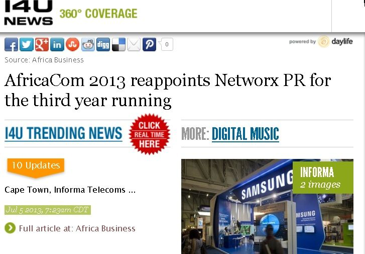 #AfricaCom 2013 reappoints NetworxPR