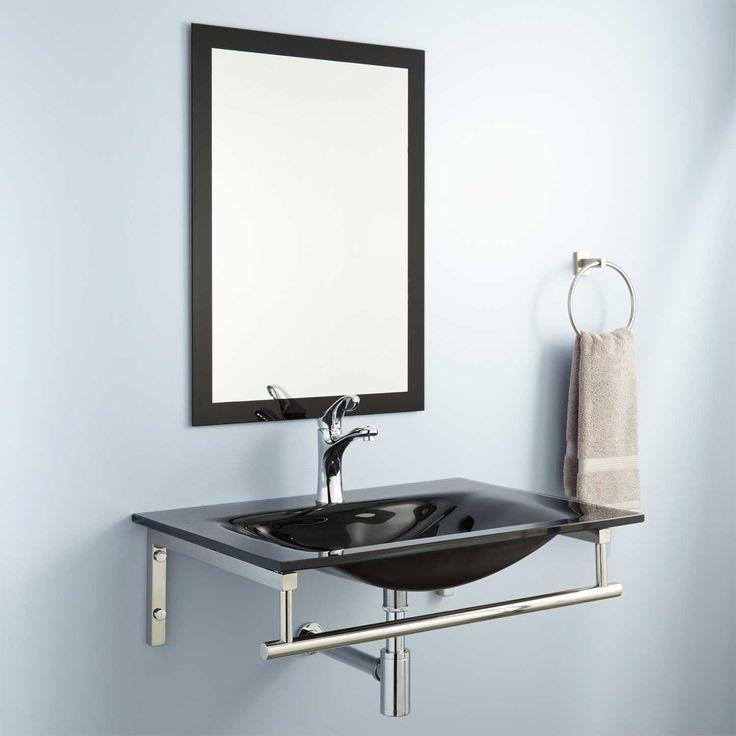 Best 25 glass sink ideas on pinterest glass bathroom for Yesler wall mount glass sink
