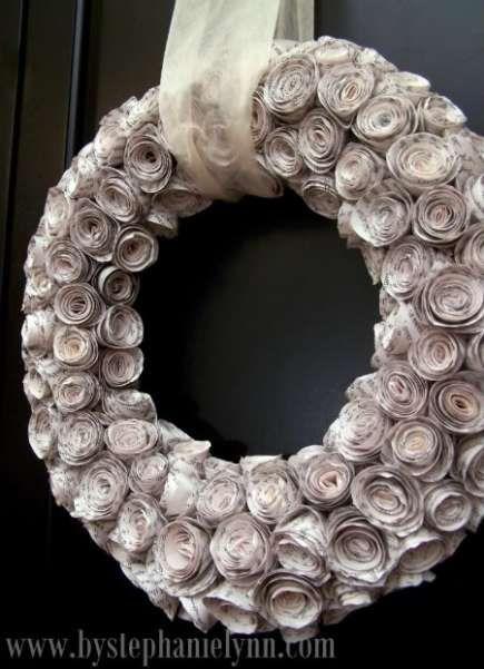 Bookpage wreath