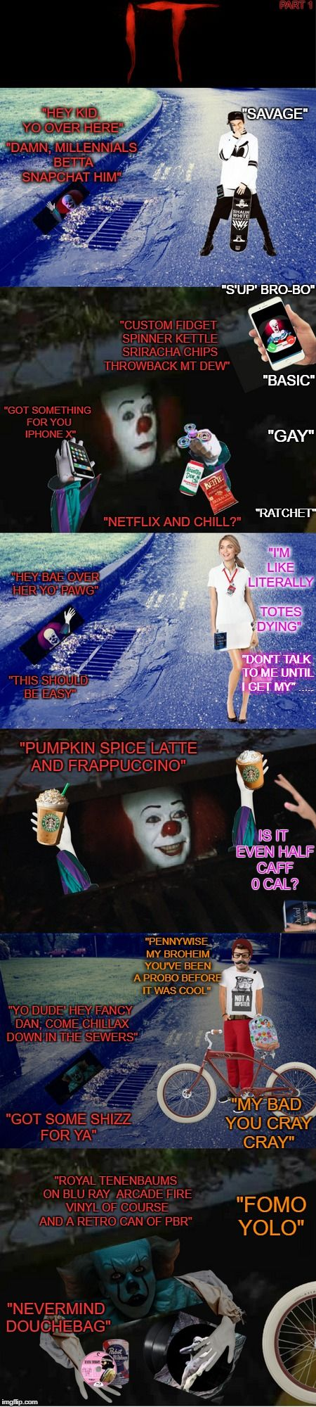 Pennywise Stumbleupon Urban Dictionary. Float down in the sewers 2017.