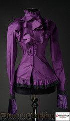 Dracula Clothing Purple Ruffle Shirt