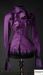 Dracula Clothing Purple Ruffle Shirt