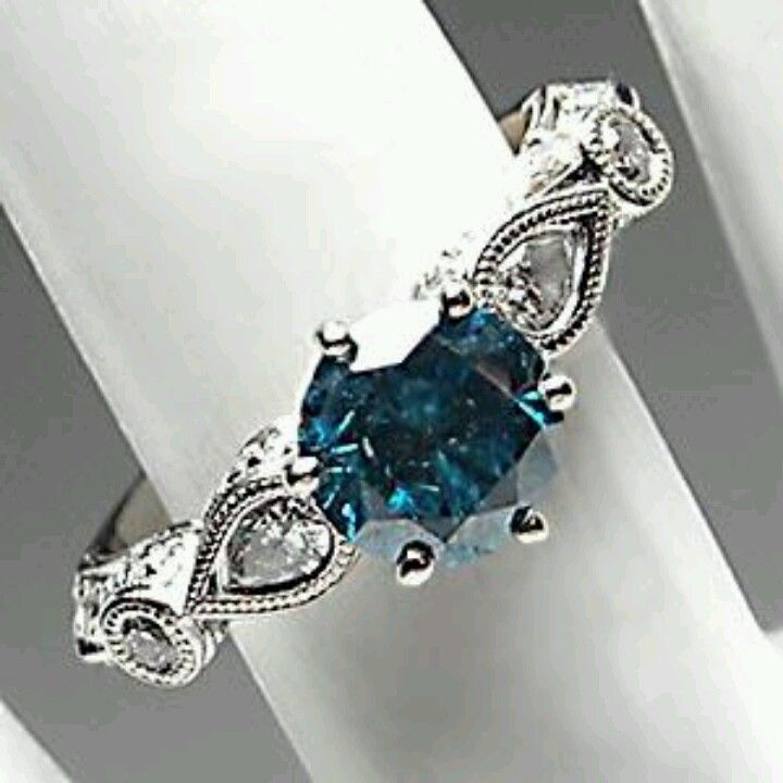 love blue diamonds non traditional engagement ring. Black Bedroom Furniture Sets. Home Design Ideas