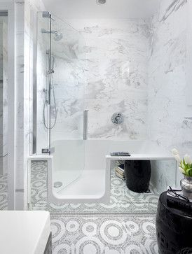 Beautiful walk in tubs with Marble Tile