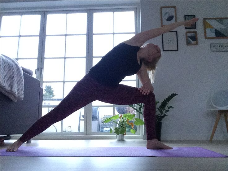 Yoga practice at home - balance and stretching