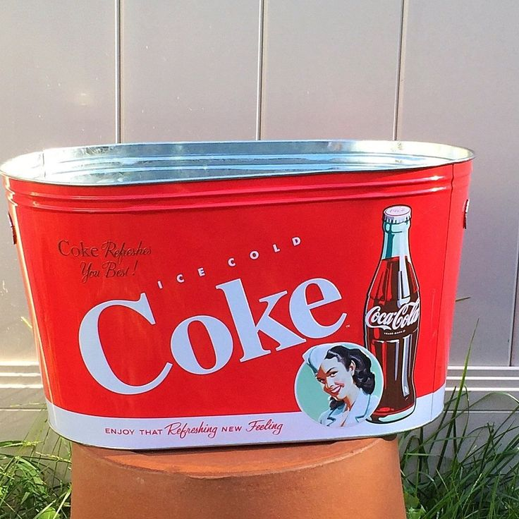 The Tin Box Company Coca Cola Galvanized Oval Tin - Coke