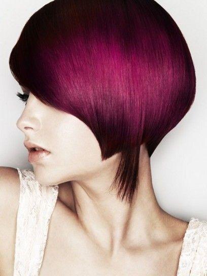 Capelli con splashlight Primavera/Estate 2014  - Splashlight viola per capelli corti
