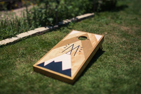 gorgeous branded cornhole boards!