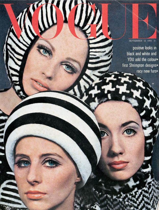 September 15th 1965 - UK Vogue (ciaovogue)  Cover Models: Jill Kennington, Sue Murray and Moyra Swann  Photographer: David Bailey