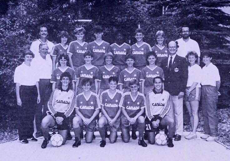 https://flic.kr/p/bbHryV | 198607_canWNT_team | Canada's First National Women's Team Canada Soccer Archives / July 1986  FRONT ROW: Sue Redepenning-Simon Maureen Cant Annie Caron Janet Lemieux Carla Chin  MIDDLE ROW: Gail Amort Larson Dr. John Bennett Geraldine Donnelly Connie Cant Sally Pirie Jeanne Mansuy (Jeanne Fetsch) Tracey Watson Bob Sayer Christine O'Connor Sylvie Béliveau  BACK ROW: Cavan O'Connor Tracy David Shelly McNicholl Cathy Ross Charmaine Hooper Michelle Ring Carrie…
