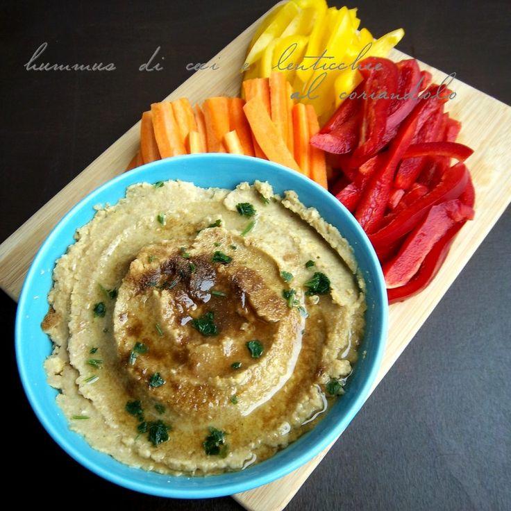 Hummus di ceci e lenticchie al coriandolo